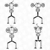 ロボットのキャラクター — ストックベクタ