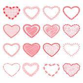 Dekorative valentine hearts — Stockvektor