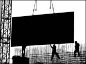 Construcción de la ciudad. — Vector de stock