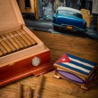 Cigars and humidor — Stock Photo #52739555