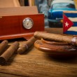Cigars and humidor — Stock Photo #52739645