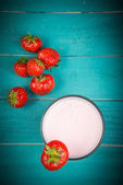 Yogurt alla fragola — Foto Stock
