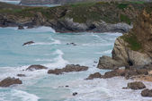 Rocky beach in south west england — Stock Photo