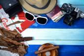 Retro travel theme in Cuba style — Stock Photo