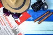 American spy in Cuba theme — Stock Photo