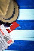 Communism theme on Cuba flag background — Stock Photo