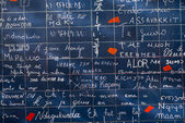 Wall of love in Paris, France — Zdjęcie stockowe