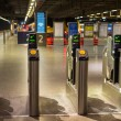 Electronic pass gate on metro tube station in London — Stock Photo #57984205