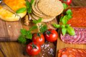 Selection of healthy party snacks — Stock Photo