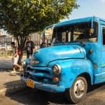 HAVANA, CUBA - JANUARY 20, 2013: Old classic American car drive — Stock Photo #62361665