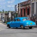 HAVANA, CUBA - JANUARY 30, 2013: Old classic American car drive — Stock Photo #62362061