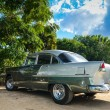 TRINIDAD, CUBA - DECEMBER 11, 2013: Old classic American car par — Stock Photo #62362675