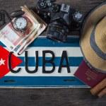 Holiday preparation, destination Cuba — Stock Photo #72795849