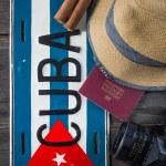 Holiday preparation, destination Cuba — Stock Photo #72795867