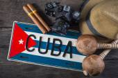 Background related to Cuba culture — Stock Photo