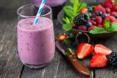 Batido de frutas de verano casera antioxidante — Foto de Stock