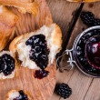 Постер, плакат: Homemade blackberry jam for breakfast