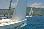 Sailboats regatta — Stock Photo