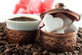 Heart shaped sugar — Stock Photo