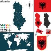 Map of Albania — Stock Vector