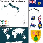 Map of Turks and Caicos Islands — Stock Vector