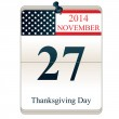 Calendar for Thanksgiving Day — 图库矢量图片 #53224099