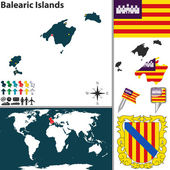 Map of Balearic Islands — Stock Vector