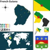 Map of French Guiana — Stock Vector