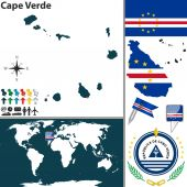 Map of Cape Verde — Vettoriale Stock