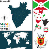 Map of Burundi — Stock Vector