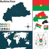 Map of Burkina Faso — Stock Vector