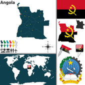 Map of Angola — Stock Vector