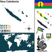 Map of New Caledonia — Stock Vector