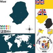 Map of Niue — Stock Vector