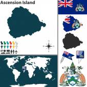 Map of Ascension Island — Stock Vector