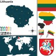 Map of Lithuania — Stock Vector #66119843