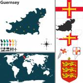 Map of Guernsey — Stock Vector