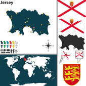 Map of Jersey — Stock Vector