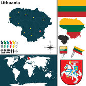 Map of Lithuania — Stock Vector