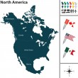 Map of North America — Stock Vector #66787491