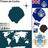 Map of Tristan da Cunha — Stock Vector
