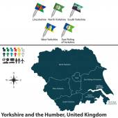 Yorkshire and the Humber, United Kingdom — Stock Vector