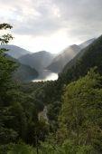 Ritsa lake, Abkhazia — Stock Photo