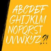 Alphabet letters: uppercase. Expressive writing. Vector alphabet. Hand drawn letters. — Stok Vektör