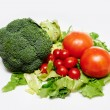 Raw broccoli, tomatoes — Stock Photo #57478391