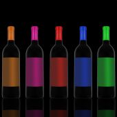 Red wine and a bottle — Stock Photo