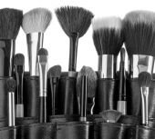 Professional make-up brush — Stock Photo
