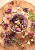 Dried Herbs and flowers — Stock Photo