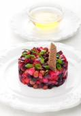 Vinaigrette Traditional Russian vegetable salad with beetroot — Stock Photo