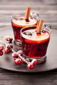 Christmas mulled wine with spices — Photo